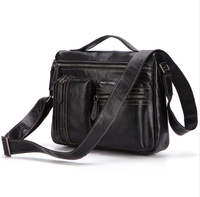 men's briefcase man shoulder messenger bag male business casual briefcases men Genuine leather IPAD crossbody messenger bags