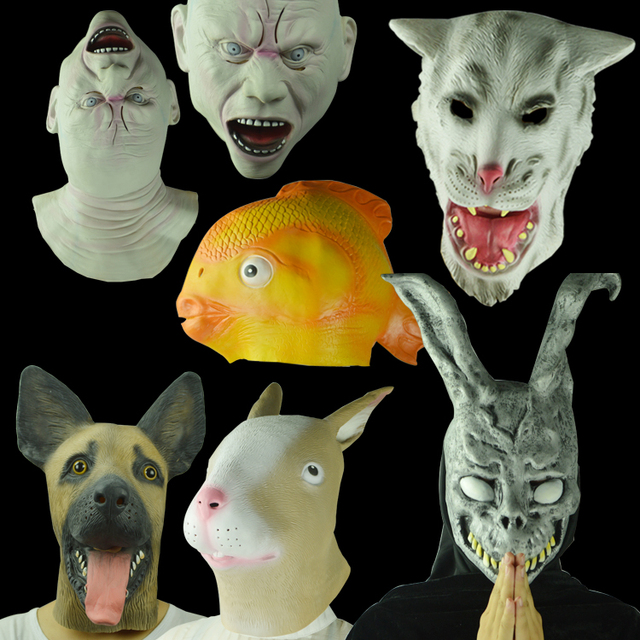 halloween mask face mask terrorist animal head goldfish wolf mask rabbit mask hood squirrel dogs