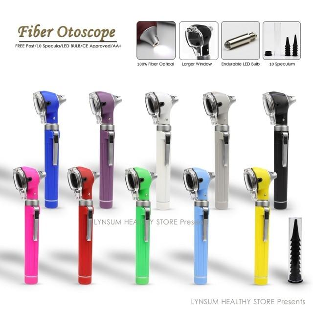 Dropshipping סיבים אופטי ישיר גדול יותר צפייה חלון נייד רפואי Otoscopio אוזן טיפול אבחון LED מיני ישיר Otoscope