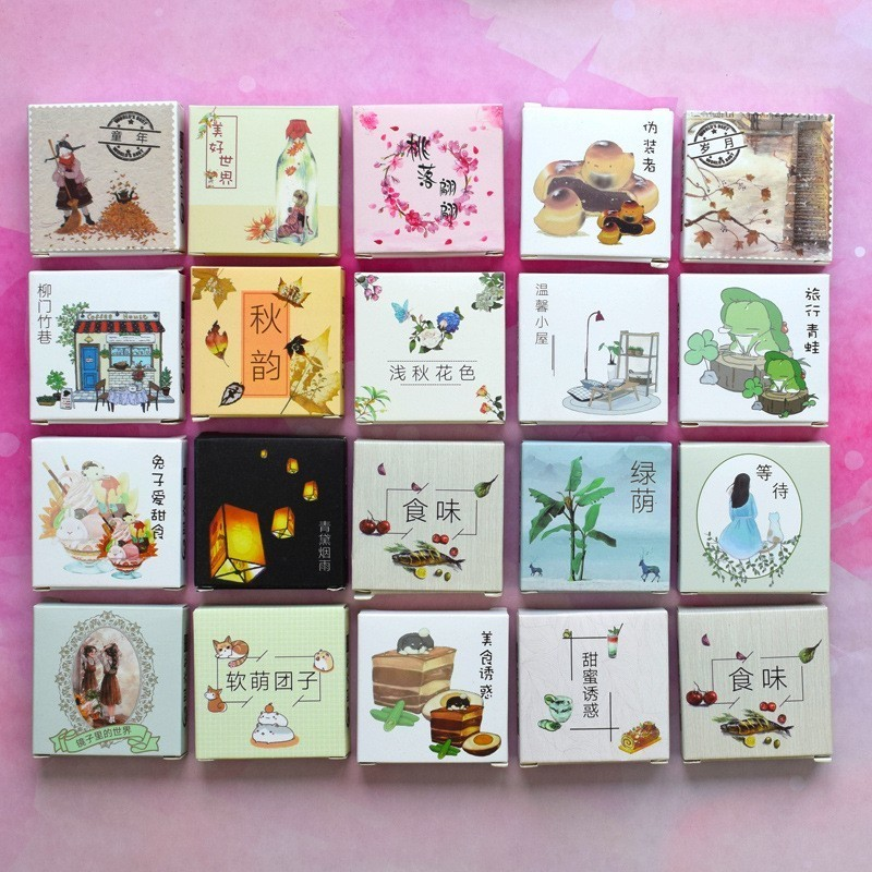 40PCS/box Color Cute Printing Paper Sticker Decoration Decal DIY Album Scrapbooking Seal Sticker Stationery Gift Material Escol