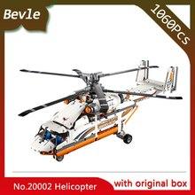 Bevle Store LEPIN 20002 1249Pcs with original box Technic Series Electric transport helicopter Building set Blocks Bricks 42052