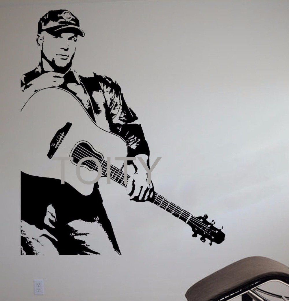 Country Music City Stock Photos Country Music City Stock: Garth Brooks Wall Sticker Country Pop Singer Vinyl Decal