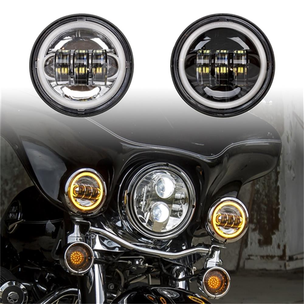2 Pcs 4 5 Inch Fog Lights Special For Harley Davidson