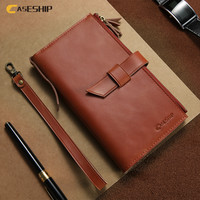 CASESHIP Real Genuine Leather Phone Case For IPhone 6 6s 7 Cover 4 7 Inch Crazy