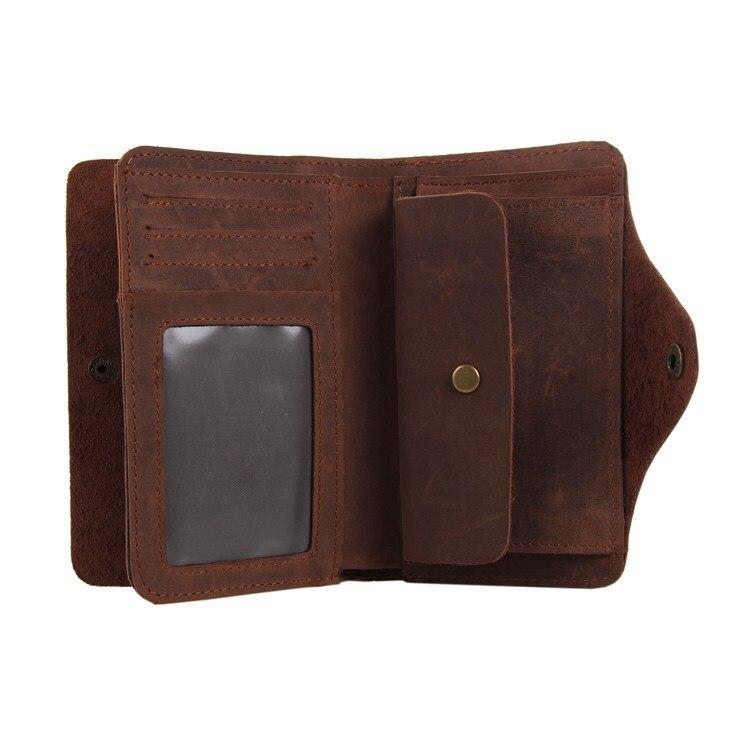 cartão carteira masculina dinheiro designer Composição : Crazy Horse Leather