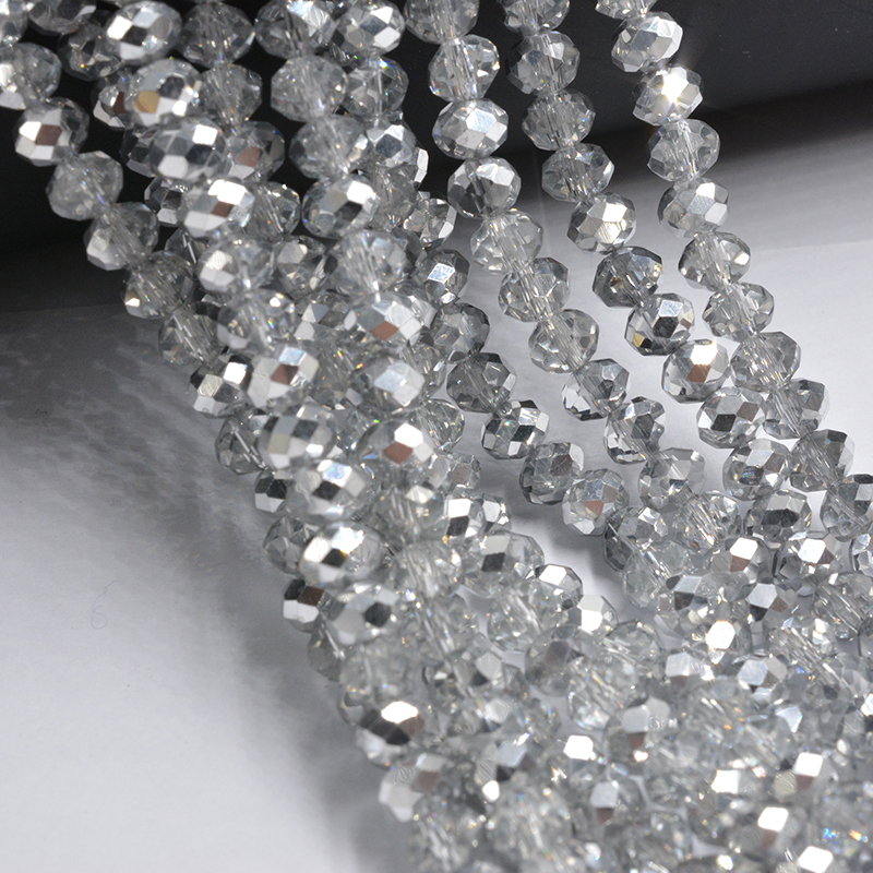 Collection Here Plated Half Silver Color 4mm 145pcs Crystal Beads Glass Beads Loose Spacer Beads Diy Jewelry Making Austria Crystal Beads Relieving Heat And Thirst. Beads & Jewelry Making