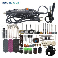 180w Engraver Electric Grinding Machine Rotary Tool Variable Speed Mini Drill Grinding Tools With 161pcs Power