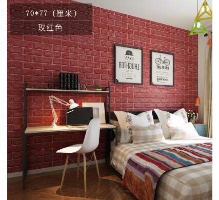 Culture Wall Three Dimensional Stickers Brick Waterproof Tv Tile Wallpaper Living Room In Wallpapers From Home
