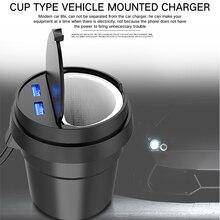 5V3. 1A двойной USB кубок тип автомобильное зарядное устройство и адаптер прикуривателя для СВЕТОДИОДНЫЙ дисплей iPhone Samsung быстрой зарядки