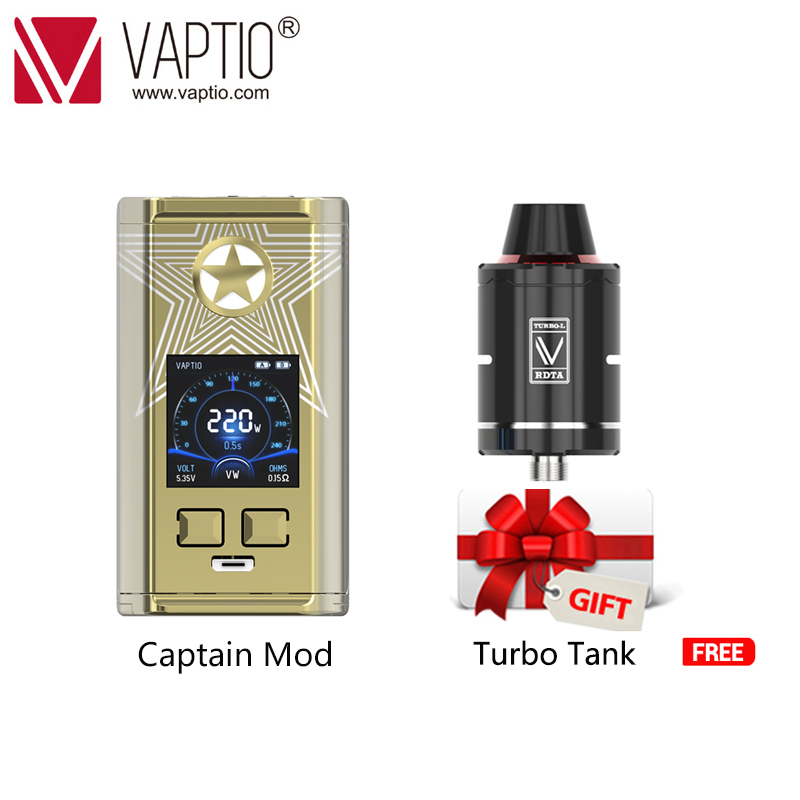 Vaporisateur Vape MOD Cigarette électronique capitaine 220 w boîte mod pour 2*18650 batterie 510 fil vape kit équipé TFV8 bébé réservoir