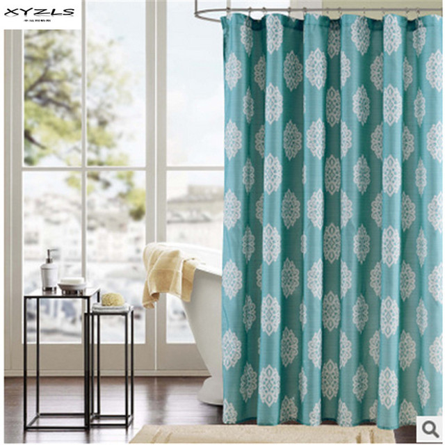 Xyzls 2016 New Modern Bath Curtain Geometric Pattern Home Decor Bathroom Shower Polyester Fabric Show