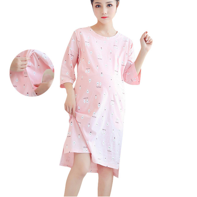 maternity breastfeeding nursing nightgowns for nursing mothers ...