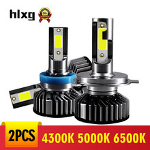hlxg 12V Driving Lamp Fog Light H11 LED Mini H7 Bulb Car Headlight H8 H9 H11 9005 HB3 9006 HB4 6000K 4300K 5000K Replacement(China)