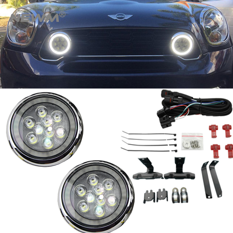 2X White LED DRL Rally Lamp For Mini Cooper R50 R52 R53 2001 2006