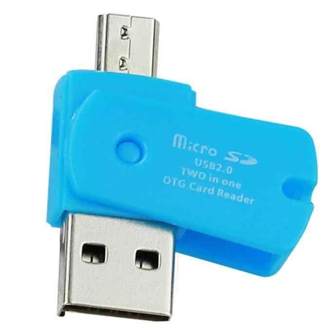 قارئ بطاقات OTG المصغّر USB إلى USB 2.0 Micro SD TF محوّل قارئ البطاقات للهاتف أندرويد