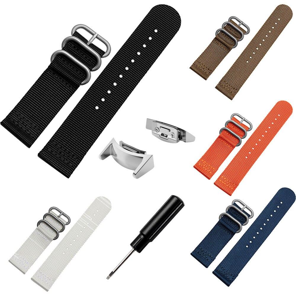 Saat kayışı Lüks Naylon Yedek Spor İzle Band Kayışı + Adaptörleri Samsung Galaxy Dişli S2 R720 Değiştirme Watch Band