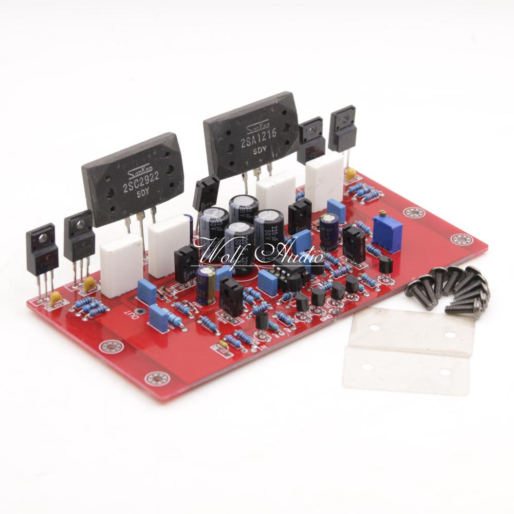 Assembled 2SA1216+2SC2922 Mono Amplifier Board Base on Burmester 933 Circuit Power AMP Board