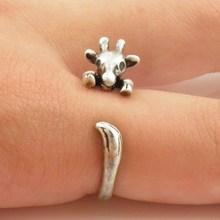 Мин 1 шт жираф животное обертывание кольцо бронзовые ювелирные изделия кольца удобные счастливые животные кольцо для мужчин женщин подарок
