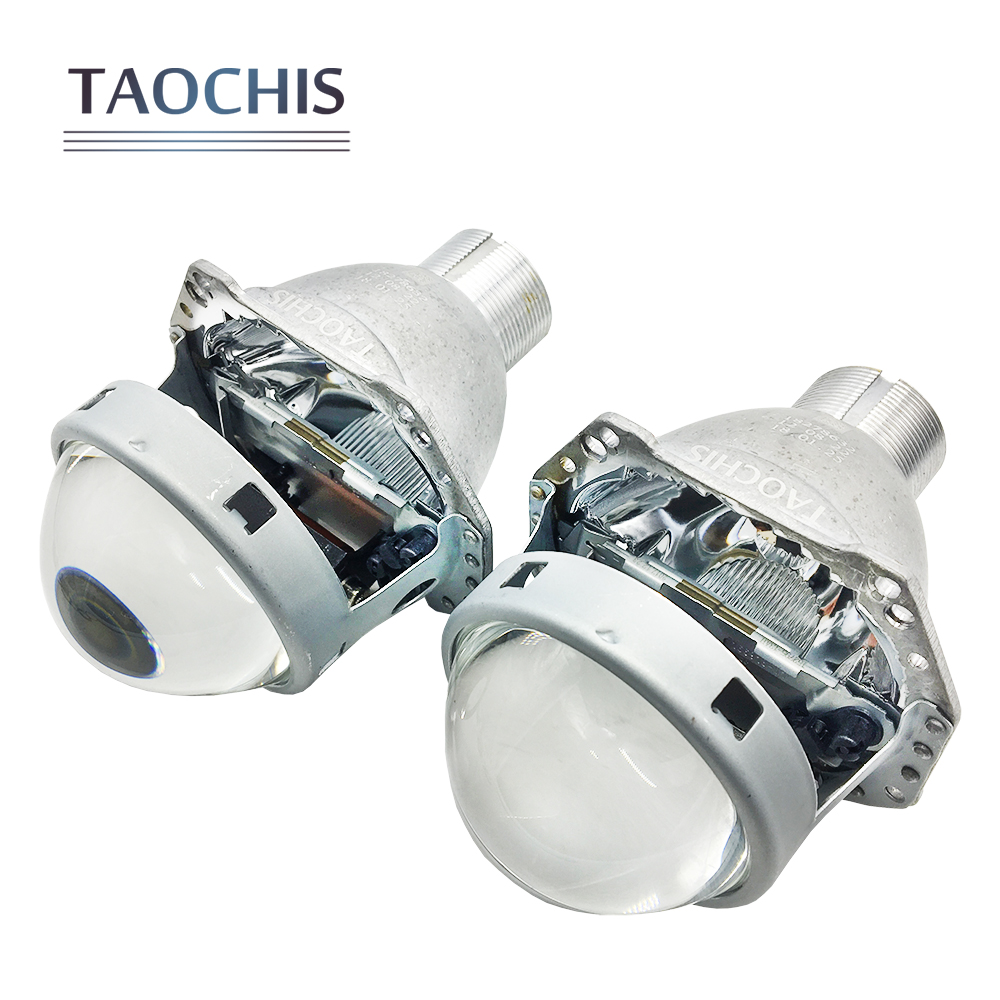 TAOCHIS Auto head light 3.0 inch Bi xenon Projector Lens replace 3R G5 HELLA H4 Lossless installation Non-destructive