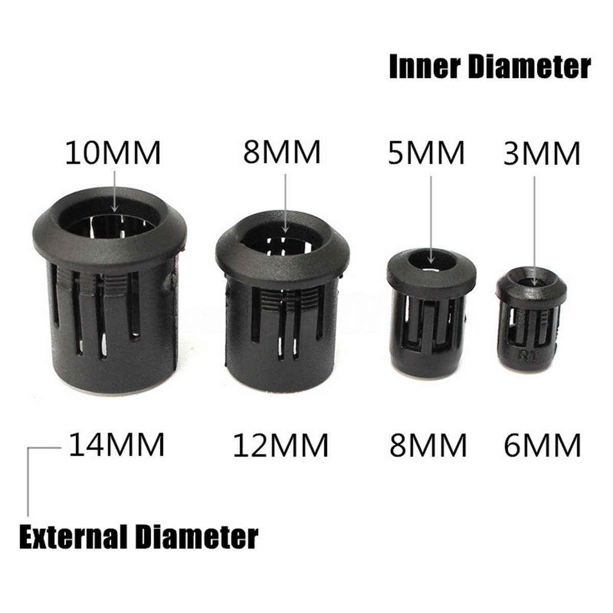 5pcs Plastic LED Diode Socket Holder Black LED Lamp Clip Bezel Mount 3mm/5mm/8mm/10mm