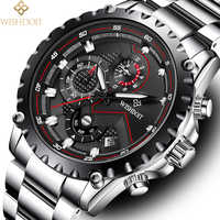 WISHDOIT montre hommes mode Sport montre à Quartz haut de gamme marque de luxe plein acier étanche montre-bracelet Relogio Masculino Zegarek Meski