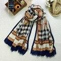 Дамы printe плед шарф/платки Британский плед каракули длинная голова мода хиджаб равнина весной зимние шарфы/платки JYW034