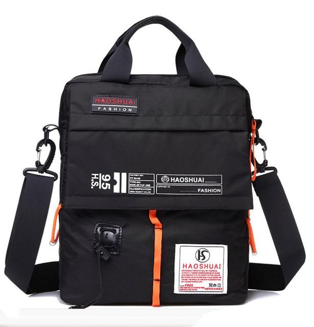 2019 Men High Quality Waterproof Nylon Shoulder Messenger Bags Mountaineering Bag Students Bag Clutch Bag