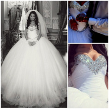 trust linda Luxury Sweetheart Wedding Dress Ball Gown