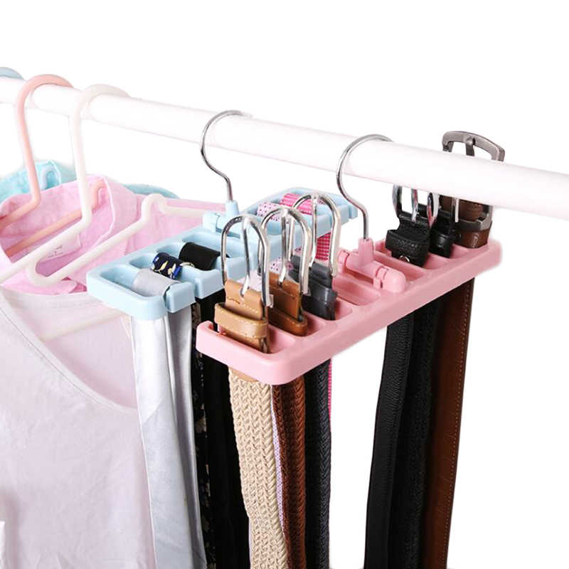 1pcs Multifunction Storage Rack Tie Belt Organizer Rotating Tie Hanger Holder Closet Organization Wardrobe Finishing Rack Space