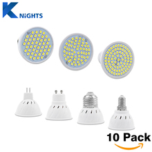10Pcs/lot New Arrival SMD 2835 GU10 E27 E14 MR16 LED Lamp 220V 230V 240V LED Spotlight 3w 5w 7w Light Bulbs LED for Chandelier
