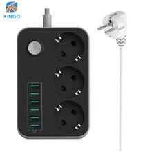 האיחוד האירופי תקע מהיר טעינת USB כוח רצועת שקע אוניברסלי חשמל Extender כבל Surge מגן עבור בית משרד רשת מסנן