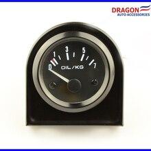 2 дюйма 52 мм Универсальный Автомобильный аналоговый масло Давление датчик 0-7 кг Белый светодиодный