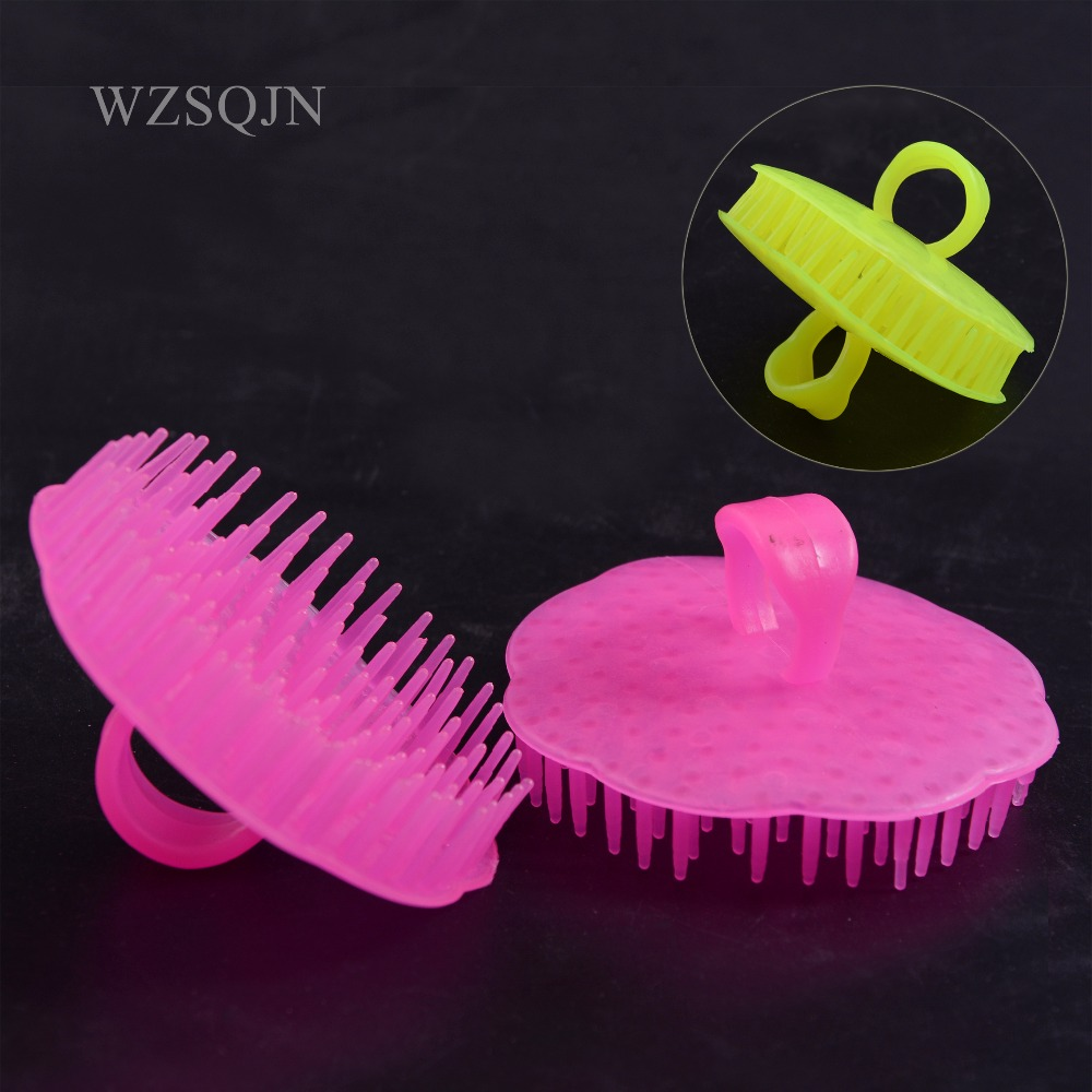 2Pcs Pro Salon Hair Styling Tools Hair Scalp Massage Comb Hair Shampoo Washing Exfoliation Hairbrush Hairdressing Cleaning Tools