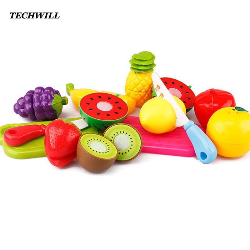 13pcs/set Kid's Kitchen Food Set Fruit Vegetable Pretend Play Toys Simulation Cooking Set For Girl Boy Children Educational Toy