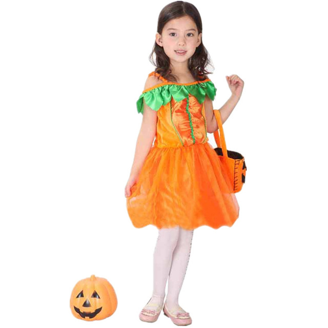 141eb64d7d307 US $123.0 |7 Sets/lot Free Shipping Carnival Halloween Pumpkin Costume Kids  Masquerade Princess Fancy Dress Children Girls Cosplay Clothes-in Dresses  ...