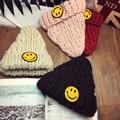Hot Sale Unisex Knitted Hats Smile Wool Hat Winter Beanies Cap Women Men 4 Colors Woolen Hat Gorro Casual Beanies Korea Hats 105