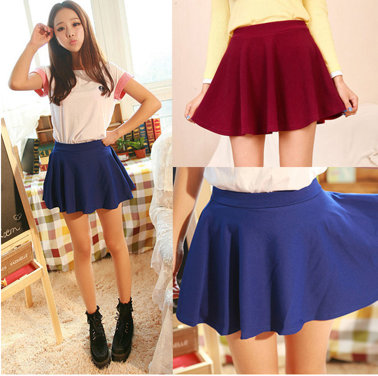 ea2aa545bdc5 Women's Cute Mini Cheap Skirts For Juniors Online Short Skirts Casual Above  The Knee Elastic Waist Spring Summer Skirts For Sale