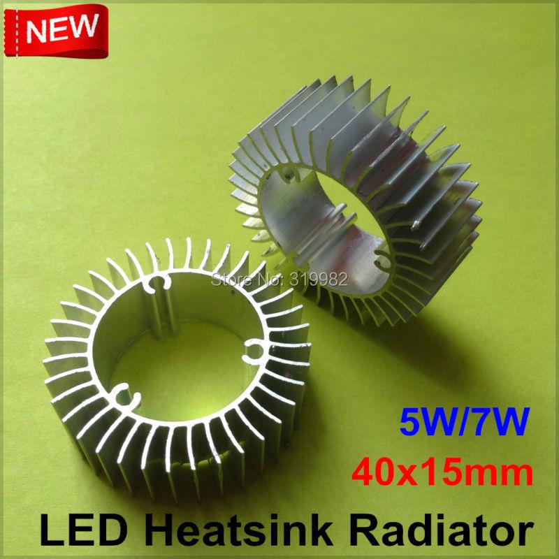 10pcs/lot LED Heatsink Aluminum Base Radiator For 1W-24W High Power LED Cooler Sunflower UFO Round PCB Radiator LED Lamp DIY