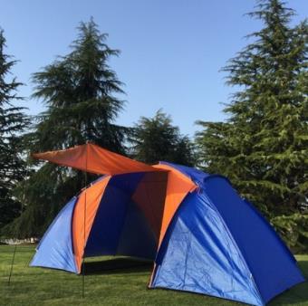 Branche route tente extérieure 8 personnes deux chambres et un Hall multi-personnes Double étanche à la pluie Camping extérieur Camping tente