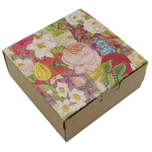 20Pcs/Lot Square Kraft Paper Packaging Boxes Carton Paperboard Wedding Gift Candy Package Box for Event Party Supplies
