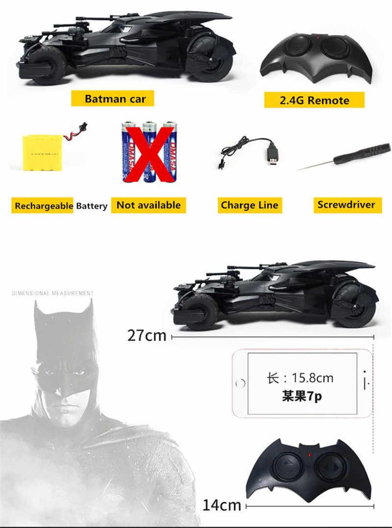 1:18 באטמן vs סופרמן ליגת צדק 2.4 Ghz שלט רחוק RC ילדים מכונית סימולציה באטמן רכב דגם צעצוע מתנה