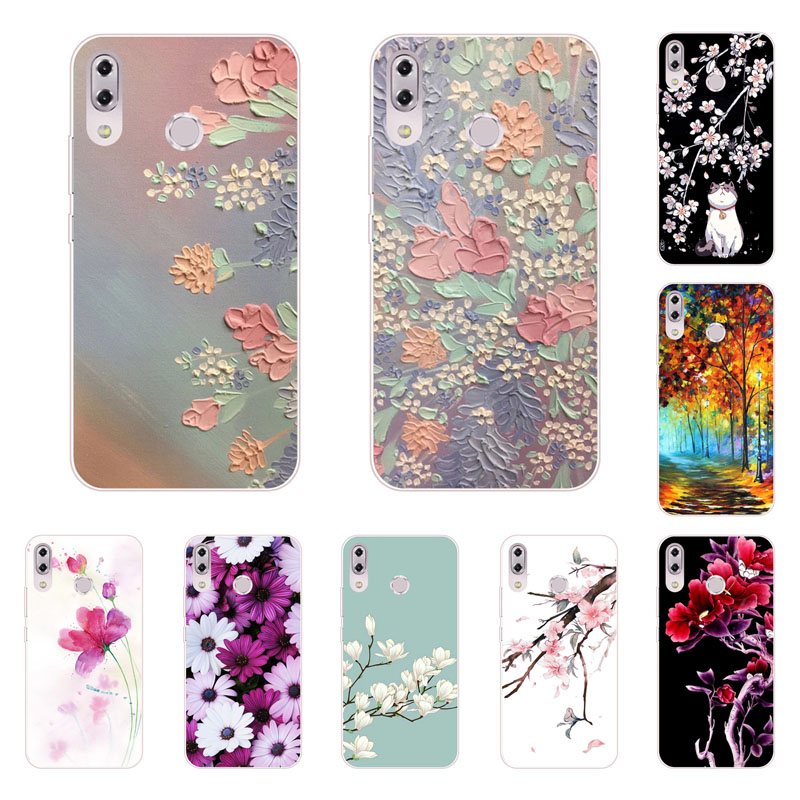 for asus ZenFone Max M2 ZB633KL case,Silicon Full flower Painting Soft TPU Back Cover for Asus ZenFone Max M2 ZB633KL bags