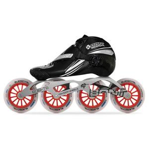 Image 1 - 2019 الأصلي Bont Jet 2PT سرعة حذاء تزلج بعجلات heatmoltable الكربون التمهيد 4*90/100/110 مللي متر 6061 عنصري عجلة التزلج Patines