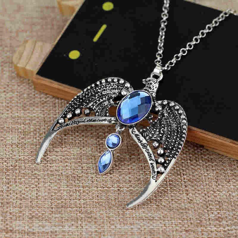 2 Gaya Ravenclaw Kehilangan Mahkota Tiara Crown Horcrux Liontin Harry Kalung Perak Antik Eaglecrown Collares Perhiasan Gratis Pengiriman