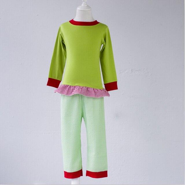 china wholesale christmas children pajamas clothes toddler long sleeve warm pajamas - Wholesale Christmas Pajamas