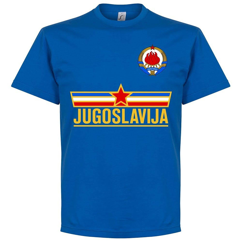 2019 New Fashion Men Casual Brand Clothing High Quality Male T-Shirt Yugoslavia Team Tee - Royal Cosplay T-Shirts