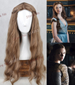 Free shipping Top quanlity women fashion Wavy Cosplay Wig Braid Cos Wig A Game of Thrones Margaery Tyrell party hair HD-791