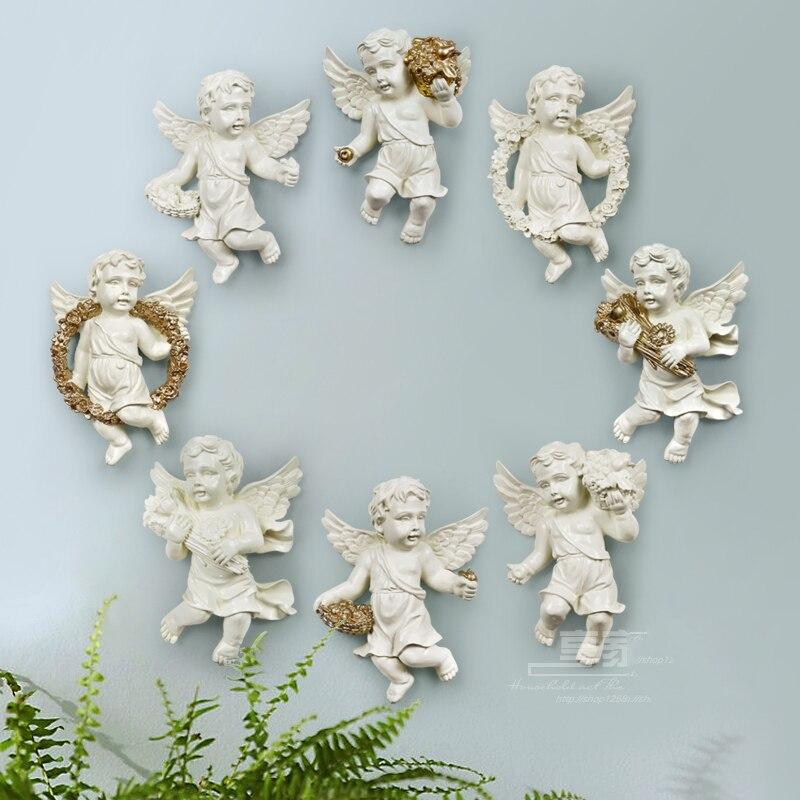 Europäische Kreative Harz Engel Von Einrichtungs Dekoration Handwerk 3D Dreidimensionale Wand Hintergrund Wandbild Ornament Zubehör-in Wandaufkleber aus Heim und Garten bei  Gruppe 1