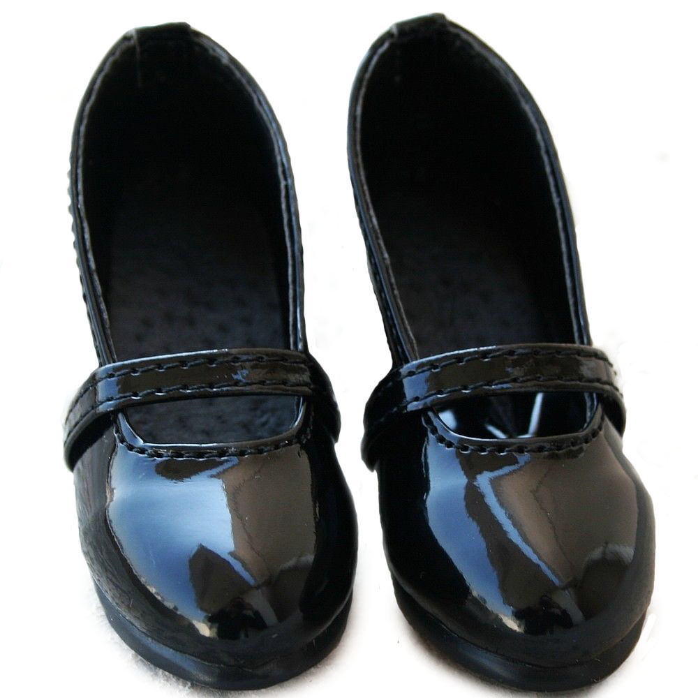 [wamami] 122# New Black Cute 1/3 DZ SD AOD BJD Dollfie Synthetic Leather Shoes [wamami] black leather clothes suit for 1 3 sd aod dod dz bjd dollfie