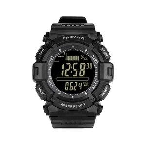 Image 4 - Montre homme numérique 2019 Sport Spovan montre bracelet noir rétro éclairage 2019 étanche qualité militaire A Erkek Kol Saati forte